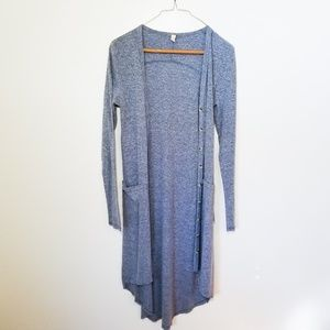 Wishlist Duster Light Blue with Pockets